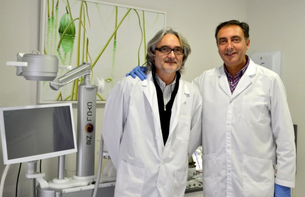Los doctores Manuel Lozano y Vicente Javaloyes