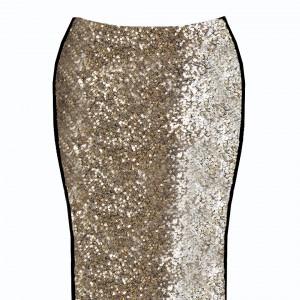 falda dorada delantera
