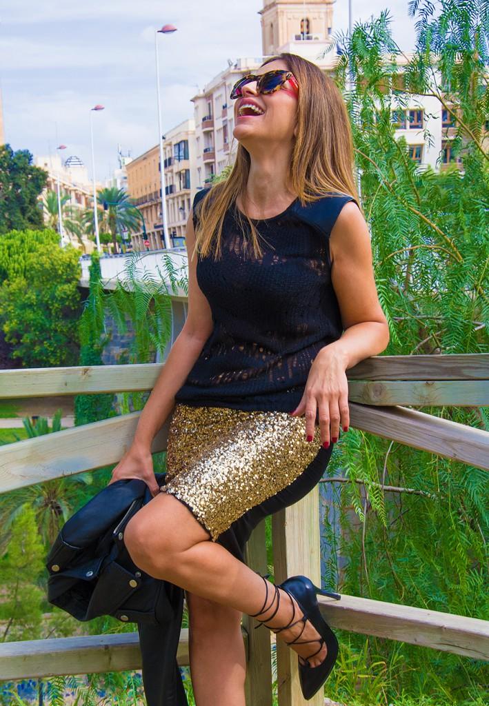 falda dorada8