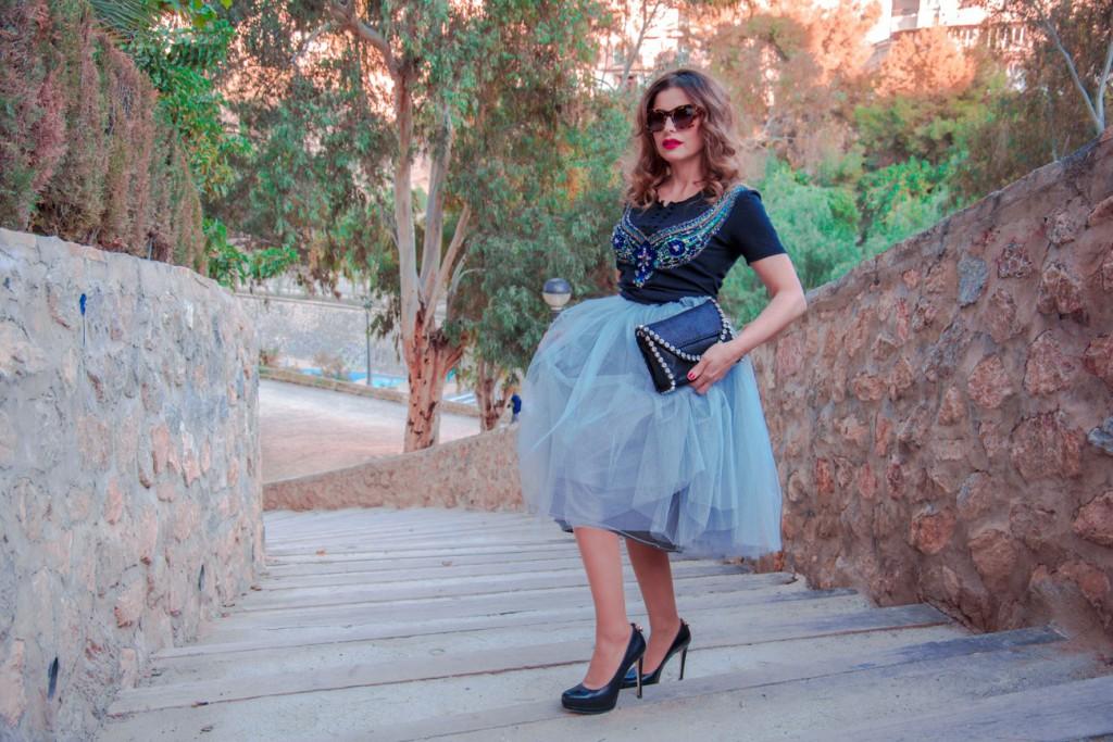 Antonella Falda de tul