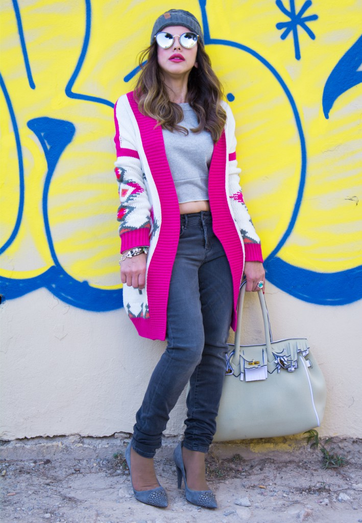 Look Urban Con chaqueta de colores