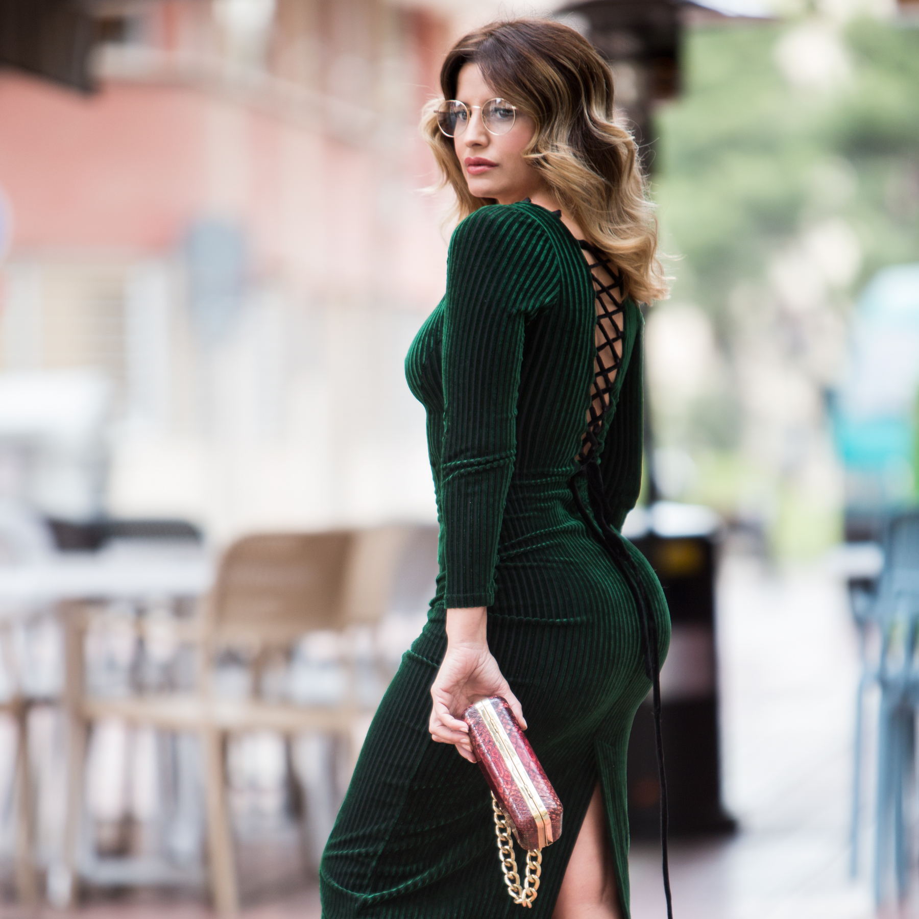 Vestidos verdes terciopelo