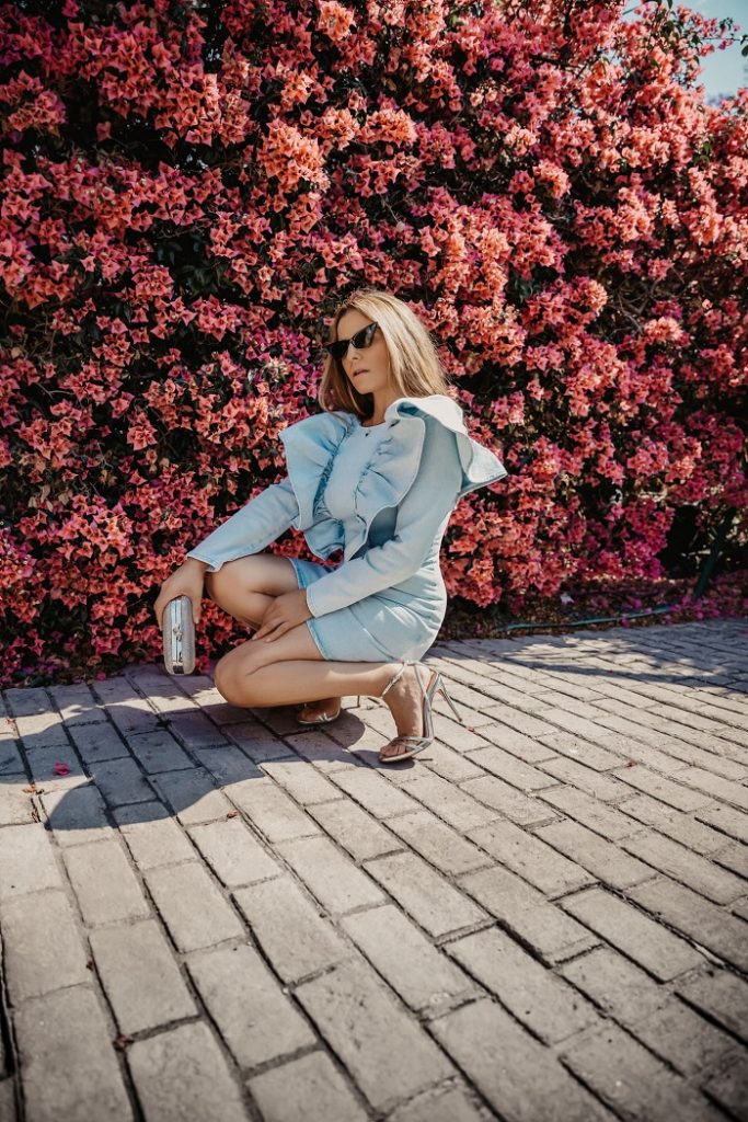vestido tejano Zara