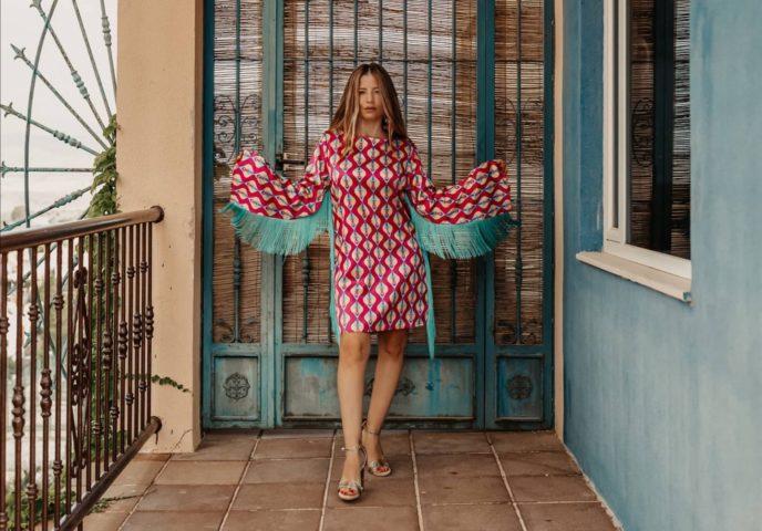 Antonella vestido de flecos Lolina